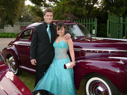 Christine Moller (Girls High- Pretoria) and Lee Thompson - 16 August 2008
